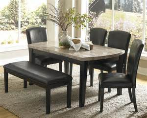 homelegance cristo 5 marble top dining room set in