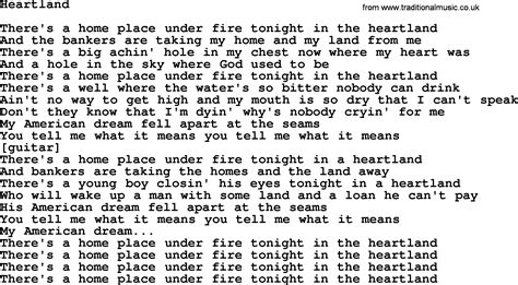 song lyrics willie nelson willie nelson song heartland lyrics
