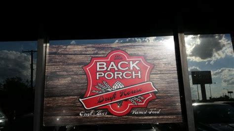 Back Porch Drafthouse Menu signage picture of backporch draft house lawton