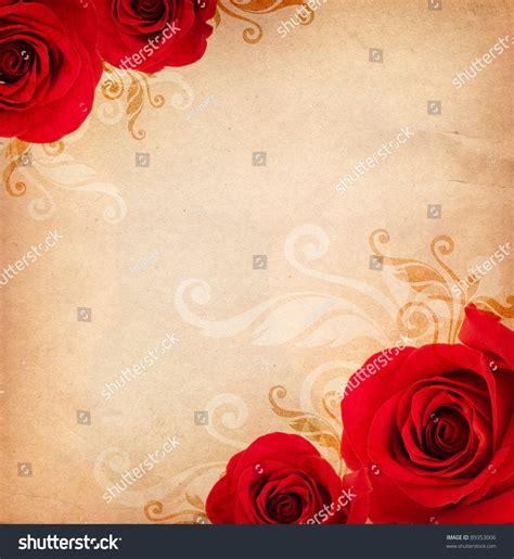 background design red rose vintage background red roses floral ornament stock photo