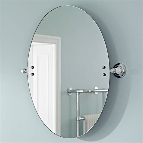 bathroom mirror fixings wall mounted oval tilting glass bathroom mirror with