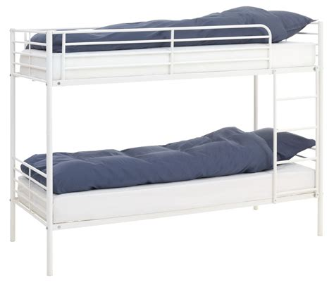 jysk bunk bed bunk bed plovstrup sgl white metal jysk