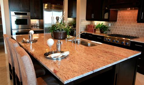Pink Kitchen Countertops by Raja Pink Granite Countertops Traditional Kitchen