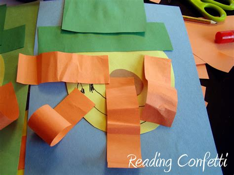 construction paper crafts for 4 year olds shape leprechauns reading confetti