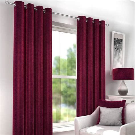 wine eyelet curtains countess wine red luxury lined eyelet curtains harry