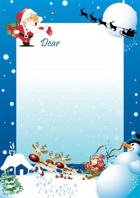 letter border santa letter graphic design