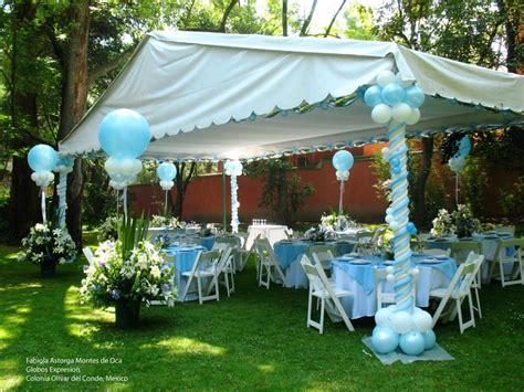 Decorating A Tent With Balloons Balloon Professional Backyard Baby Shower Ideas