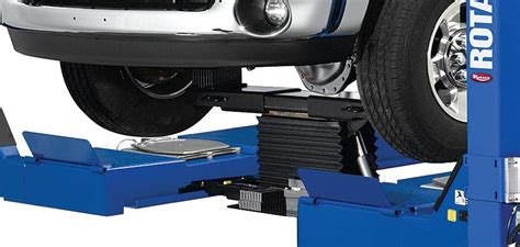 rotary floor jacks increase versatility with four post lift accessories