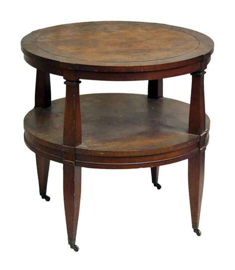 wood coffee table on wheels olde things
