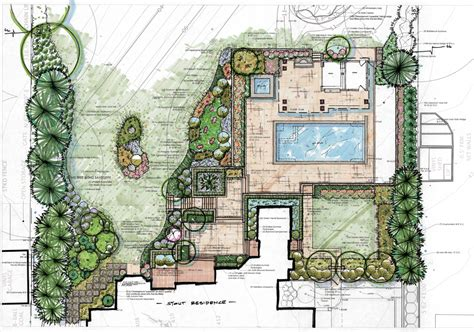 backyard plans landscape architect residential architect collaborate in