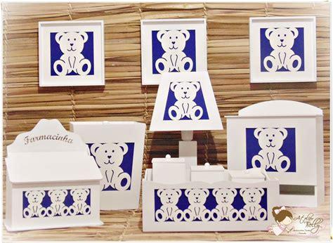como decorar kit higiene em mdf kit higiene bebe mdf branco urso 11 pe 231 as decorado tecido