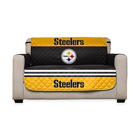 bed bath and beyond pittsburgh nfl pittsburgh steelers love seat cover bed bath beyond