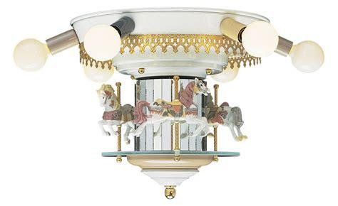 Carousel Ceiling Fan craftmade lke100 e12 carousel horses modern