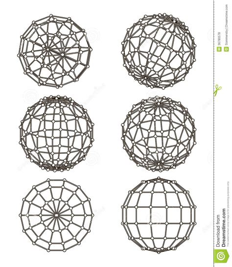 design form elements wire frame elements in the form of sphere royalty free