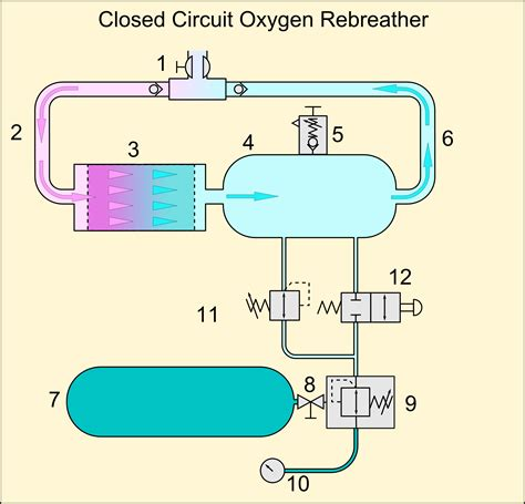 closed circuit diagram rebreather wiki fandom powered by wikia