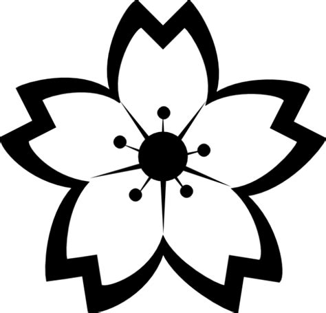 bunga hitam putih clipart