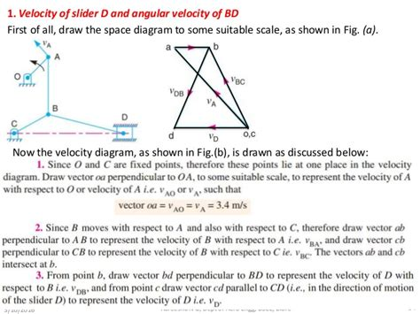 how to draw velocity and acceleration diagram velocity and acceleration of mechanisms