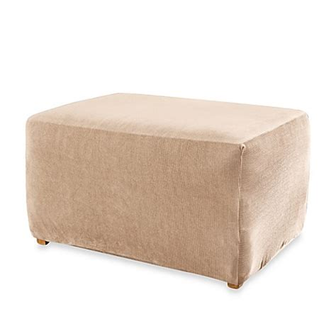Sure Fit Ottoman Cover Sure Fit 174 Stretch Stripe Ottoman Slipcover Bedbathandbeyond Ca