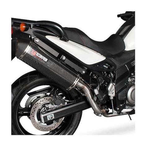 Suzuki V Strom 650 Exhaust Scorpion Serket Parallel Slip On Exhaust Suzuki V Strom