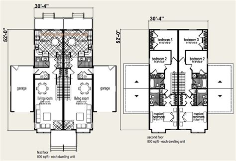 modular duplex house plans coolidge duplex floor plan and elevation 1 multi family units pinterest duplex