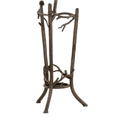 Coat Rack Umbrella Holder by Wrought Iron Rustic Pine Coat Rack W Umbrella Stand