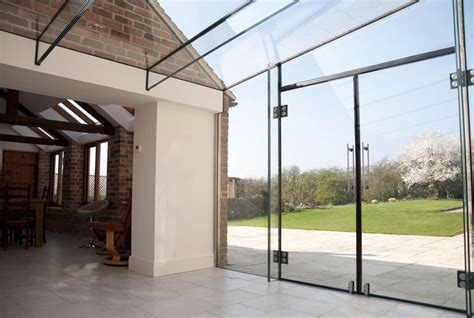 2 Storey House Design glazed link and outbuilding conversion