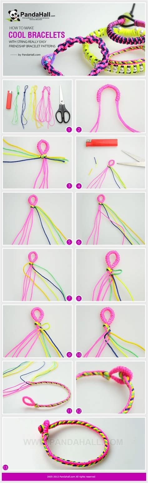 How To Make String Patterns - how to make cool friendship bracelets with strings really