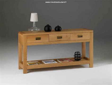 Console moderne en bois massif, Meuble console d'entrée en