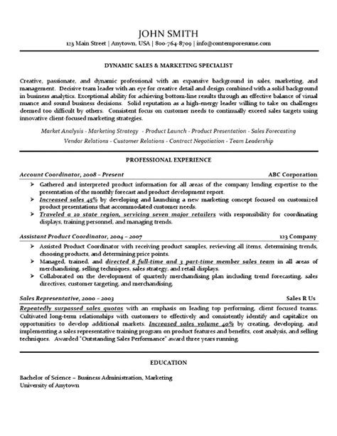 Sales And Marketing Specialist Cover Letter by Sales Marketing Specialist Resume Use Of Lines Bold Underline And Italics For Attention To