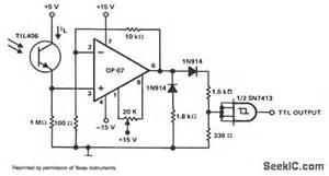 optical sensor schematic optical sensor to ttl interface basic circuit circuit optical sensor