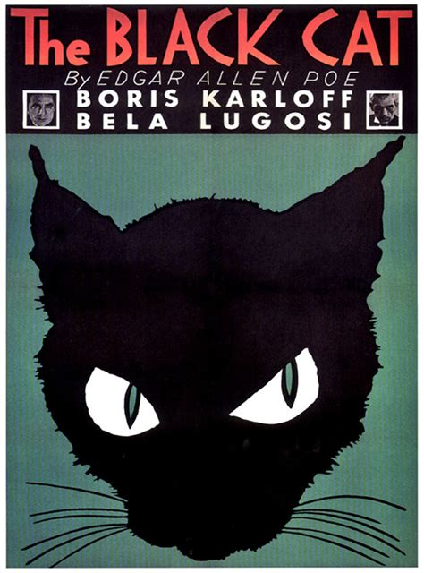 film mandarin black cat halloween the black cat movie poster 1934 vintage