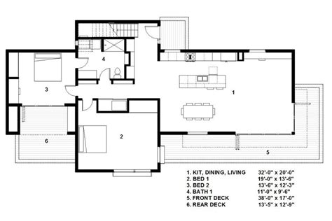 800 Sq Ft Floor Plan modern style house plan 3 beds 2 baths 2298 sq ft plan