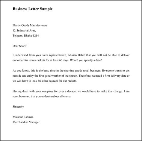 Business Letter Format For Government How To Write A Business Letter With Sle
