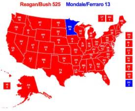 1984 Election Map by Reagan Mondale 1984 Electoral College Map C4p