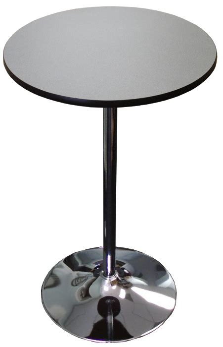 highboy table w chrome disc base