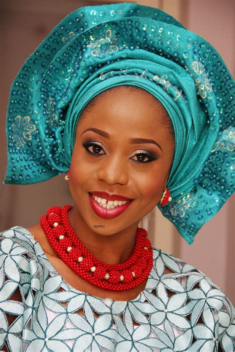 nigerian aso oke bn weddings trend watch sequined blinged gele
