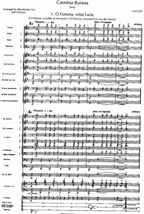 testo carmina burana o fortuna musicainfo net detail carmina burana 9108014