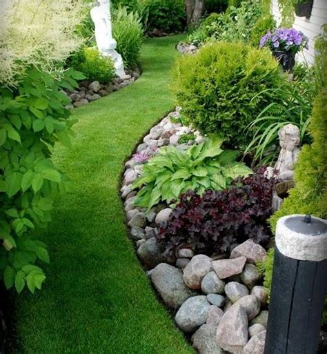 landscape tips clean of lawn rock garden ideas with green grass as