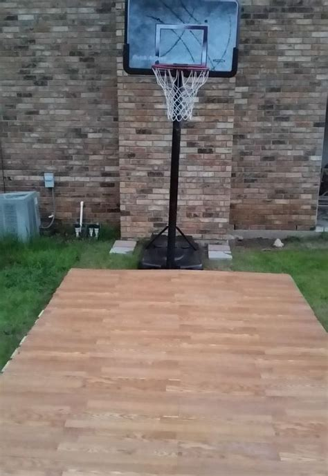 how to make a basketball court in your backyard diy pallet basketball court hometalk