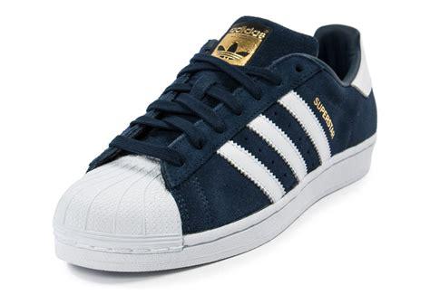 Adidas Supertar Classic B W adidas superstar suede bleu marine chaussures homme