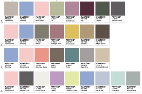 pantone color pallete pantone releases its 2016 palette color of the year