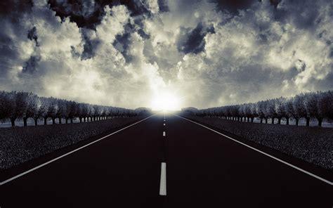 wallpaper black road beleza de uma estrada aberta hd papel de parede