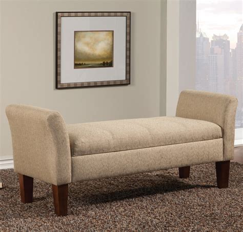 fabric storage benches beige fabric storage bench steal a sofa furniture outlet