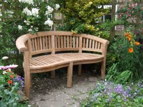 curved teak garden bench bali