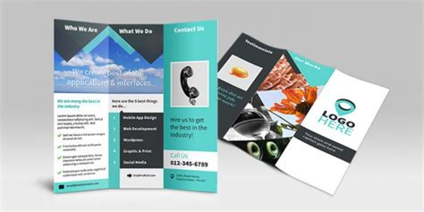 tri fold brochure template photoshop csoforum info