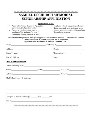15 Printable Free Scholarship Application Templates Forms Fillable Sles In Pdf Word To Memorial Scholarship Application Template