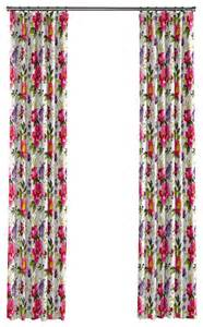 Bright Pink Curtains Sateen Bright Pink Floral Curtain Single Panel Ring Top Transitional Curtains By Loom Decor