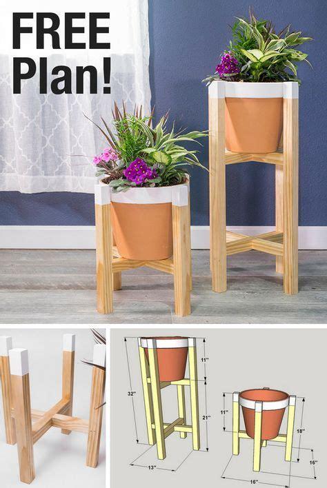 diy planter stand  printable plans    steps