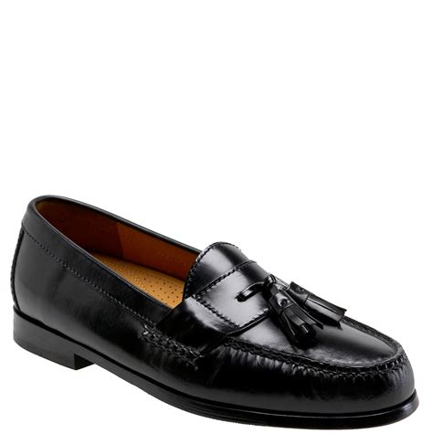 cole haan loafers cole haan pinch air tassel loafer in black for lyst