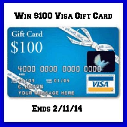 Gift Card Number Visa - win a 100 visa gift card ends 2 11